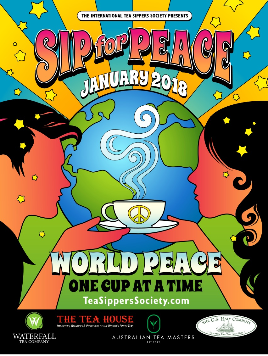 Tea Sippers Society - Sip for Peace 2018 Poster