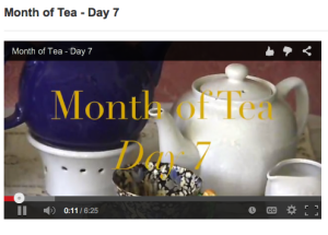 "From the ""Month of Tea 2015"" celebration of brewing."