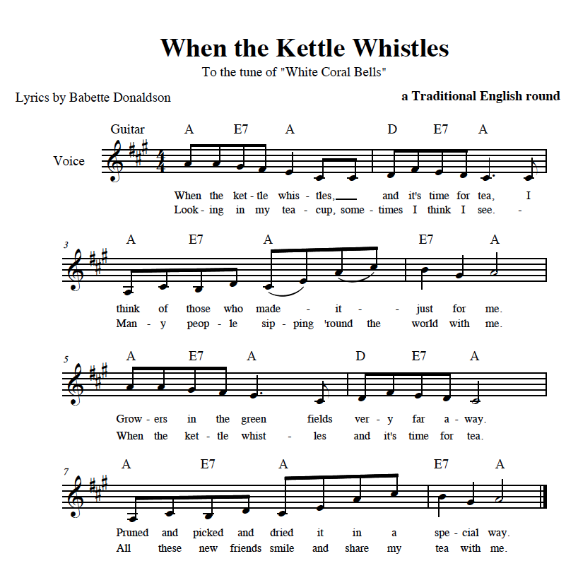 When The Kettle Whistles Sheet Music - Image of PDF