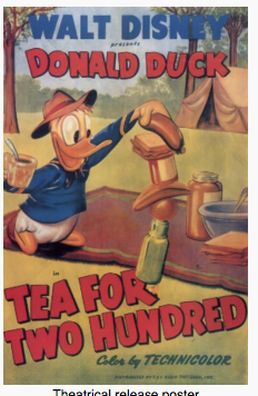 """Tea For Two Hundred"" – 1948 Donald Duck Cartoon"