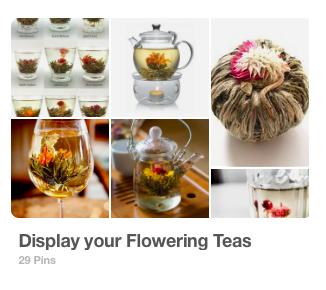 Pinterest Board: Display Your Flowering Teas