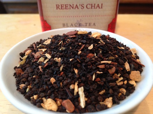Reena's chai close up
