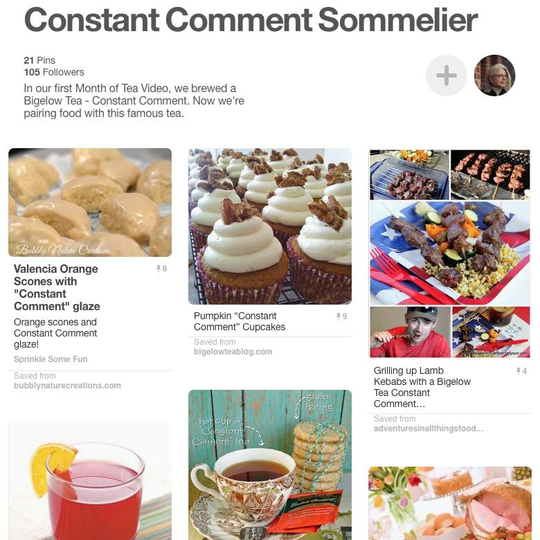 Pinterest Board: Constant Comment Sommelier