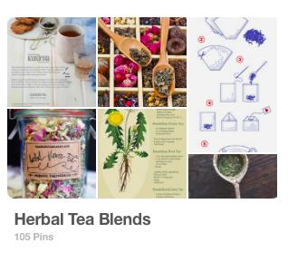 Pinterest Board: Herbal Tea Blends