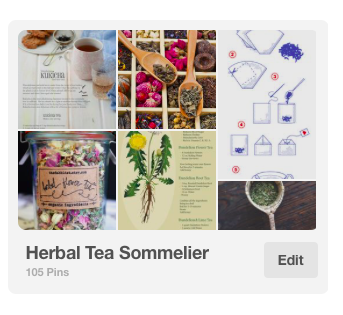 Pinterest Board: Herbal Tea Sommelier