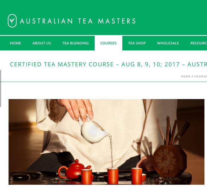 Australian Tea Masters Course