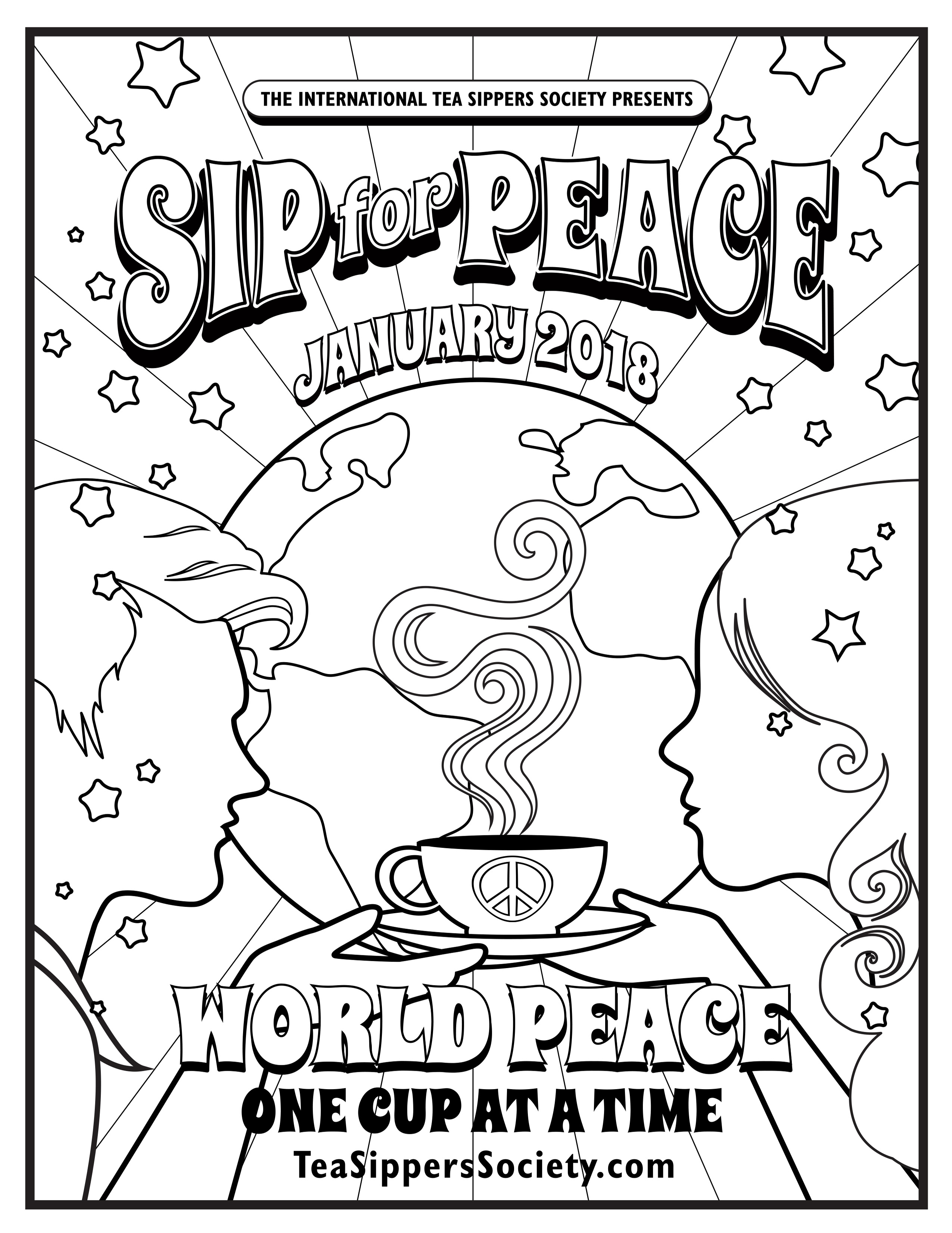 Sip for Peace - Poster Coloring Page - International Tea Sippers ...