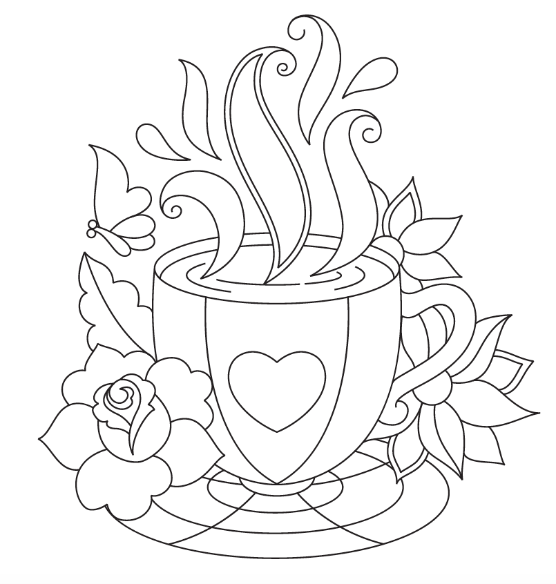 teapot people coloring page